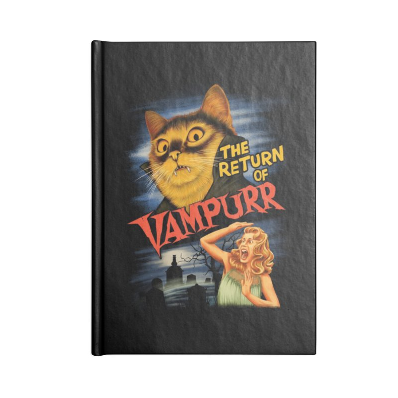 The Return of Vampurr Accessories Notebook by Threadless Artist Shop