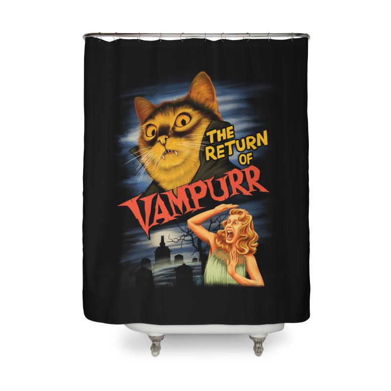 The Return of Vampurr Home Shower Curtain by Threadless Artist Shop