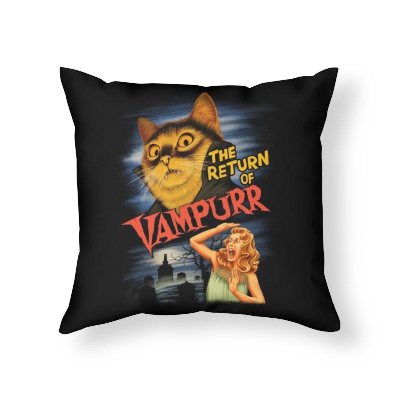 The Return of Vampurr Home Throw Pillow by Threadless Artist Shop