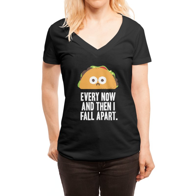 Taco Eclipse of the Heart Women's V-Neck by Threadless Artist Shop