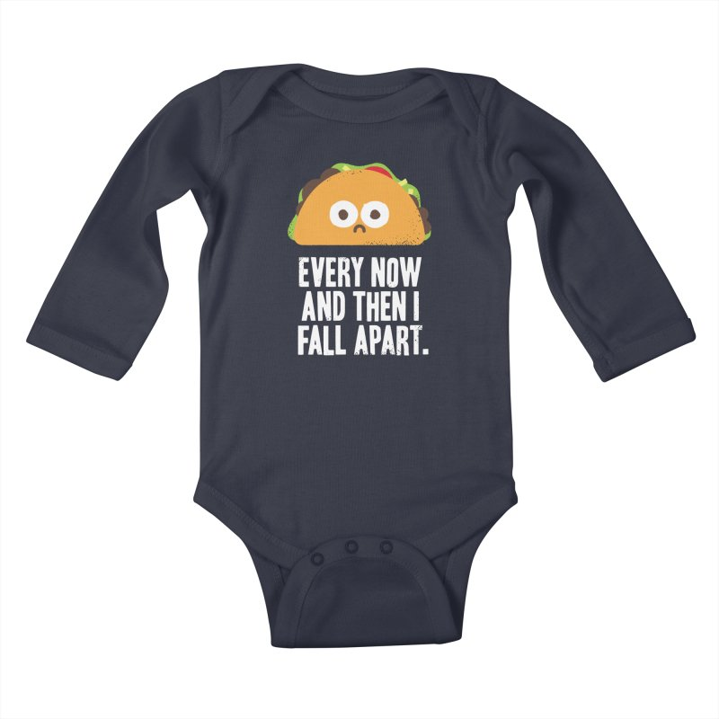 Taco Eclipse of the Heart Kids Baby Longsleeve Bodysuit by Threadless Artist Shop