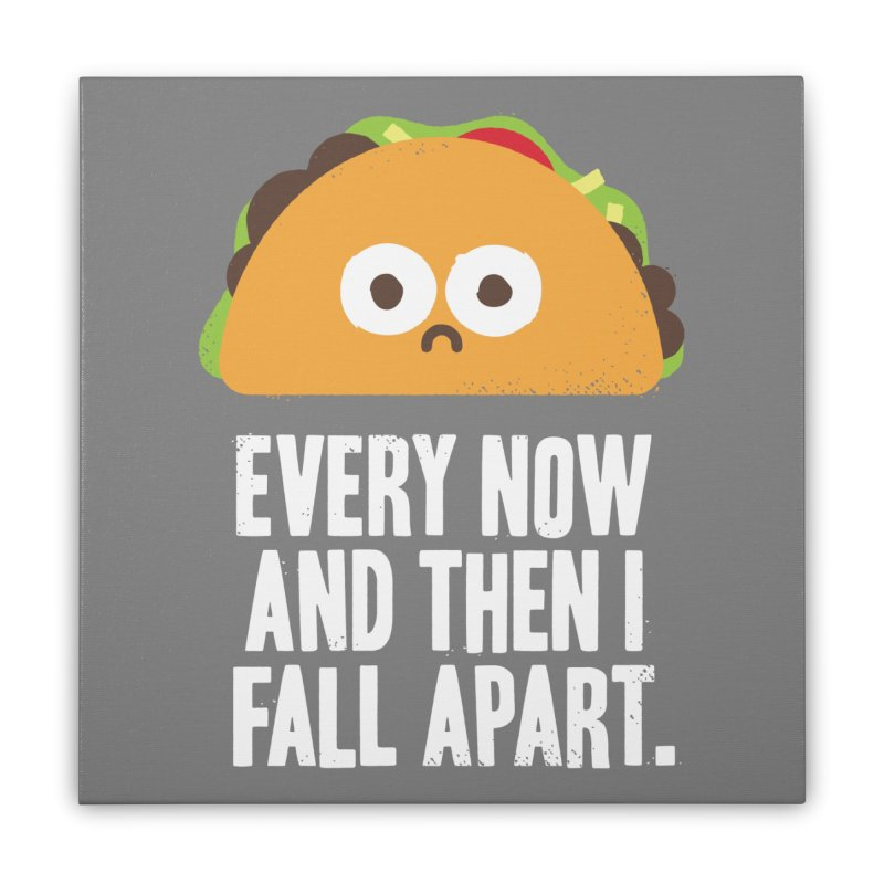 Taco Eclipse of the Heart Home Stretched Canvas by Threadless Artist Shop