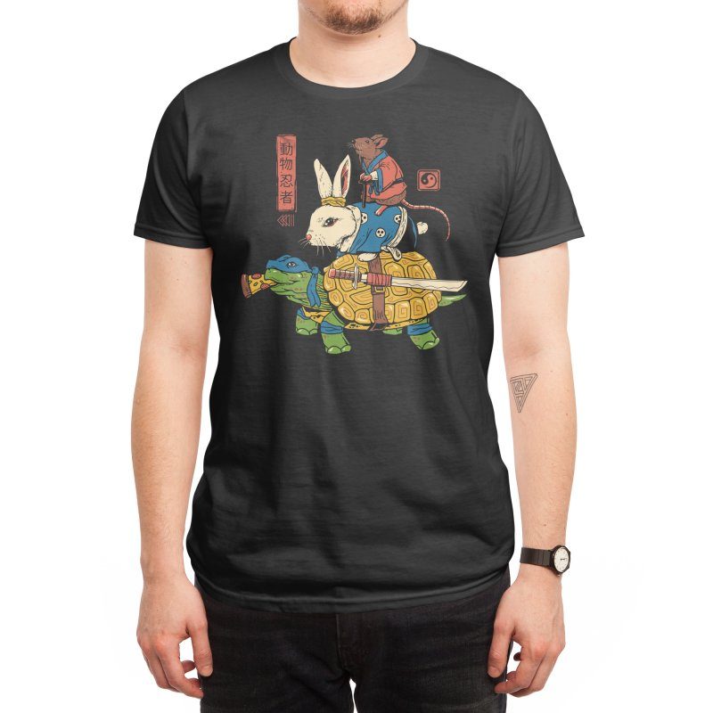 Kame, Usagi and Ratto Ninjas Men's T-Shirt by Threadless Artist Shop