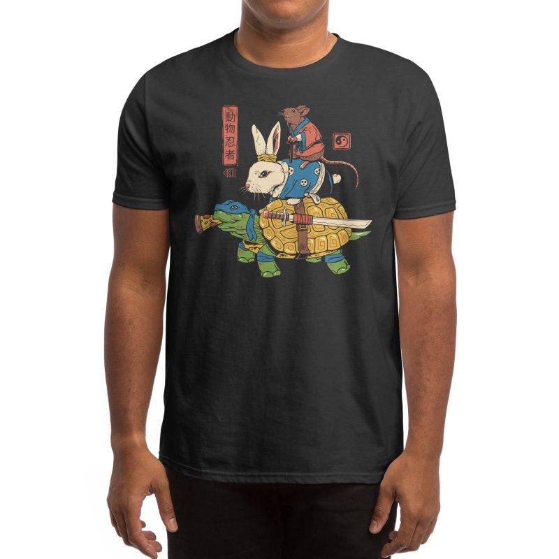 Kame, Usagi and Ratto Ninjas Men's T-Shirt by Threadless Artist Shop
