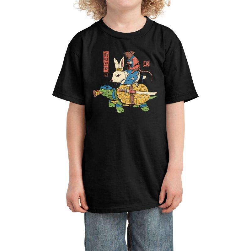 Kame, Usagi and Ratto Ninjas Kids T-Shirt by Threadless Artist Shop
