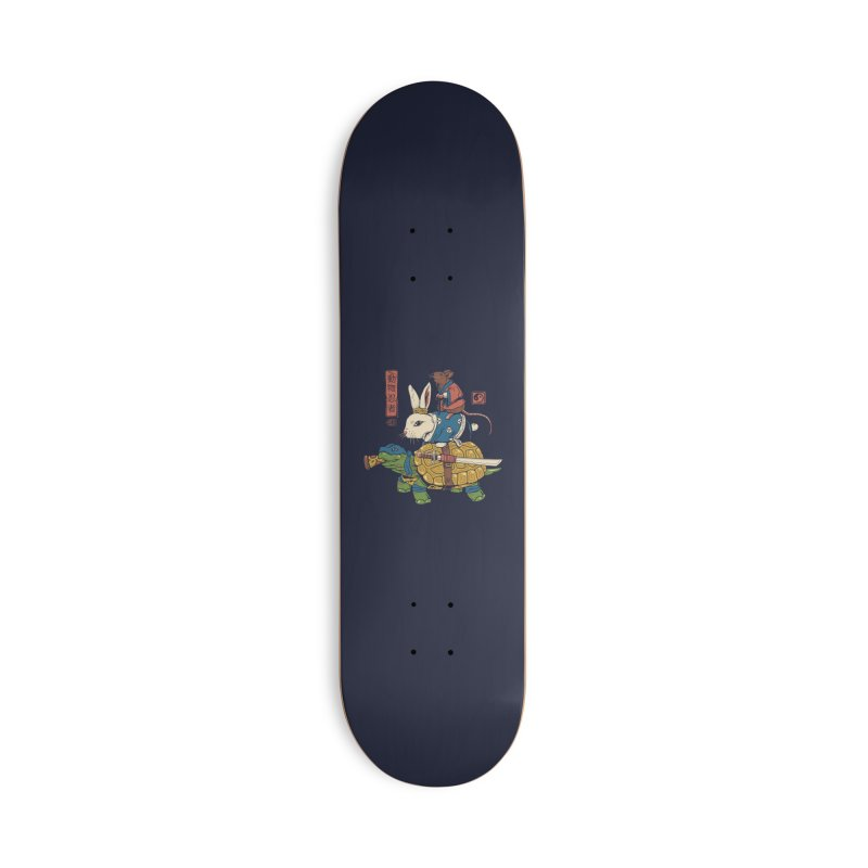 Kame, Usagi and Ratto Ninjas Accessories Skateboard by Threadless Artist Shop