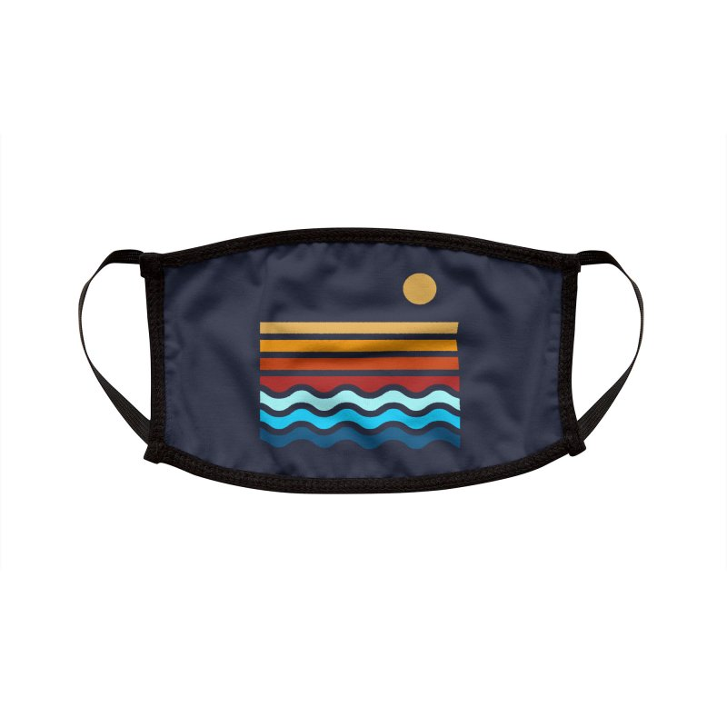 Beach Stack Accessories Face Mask by Threadless Artist Shop