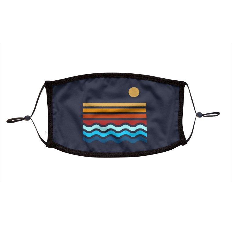 Beach Stack Accessories Face Mask by Threadless Artist Shop