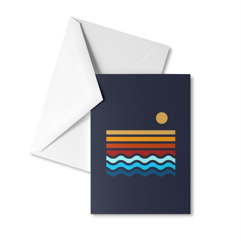 Beach Stack Accessories Greeting Card by Threadless Artist Shop