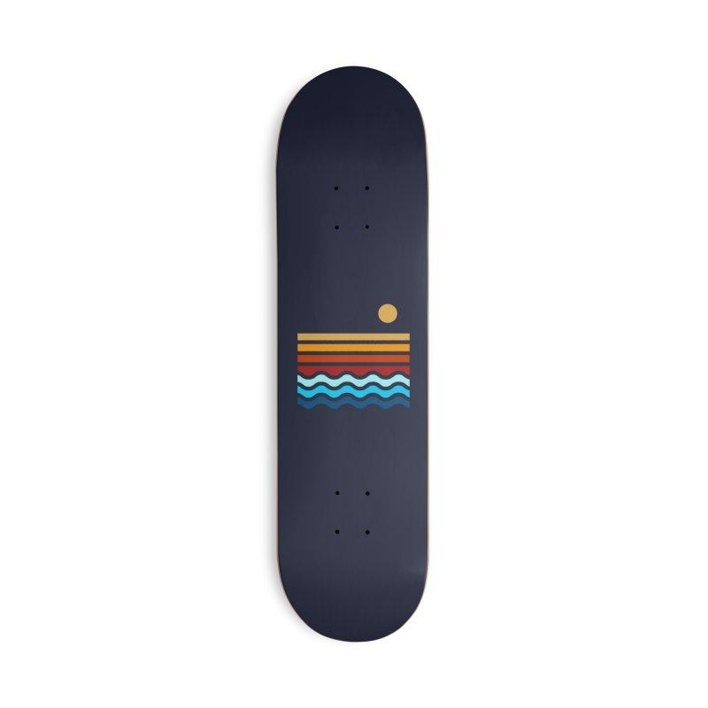 Beach Stack Accessories Skateboard by Threadless Artist Shop