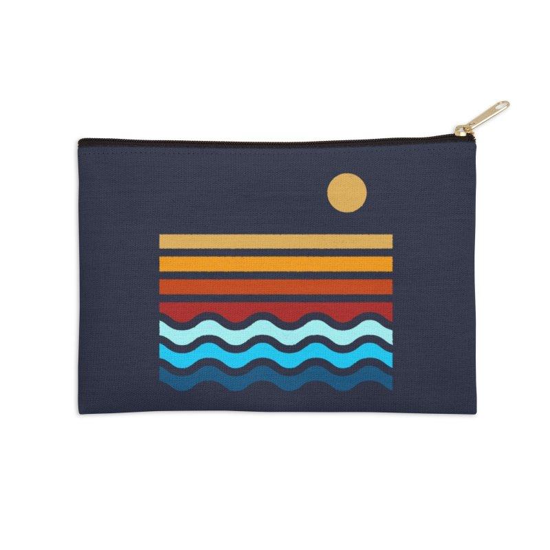 Beach Stack Accessories Zip Pouch by Threadless Artist Shop