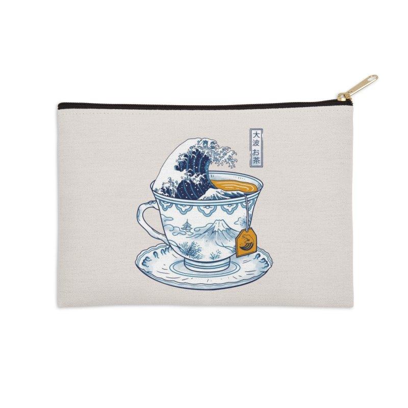 The Great Kanagawa Tee Accessories Zip Pouch by Threadless Artist Shop