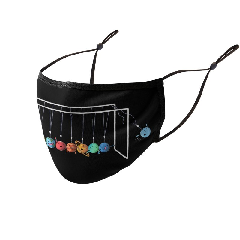 Planet System Accessories Face Mask by Threadless Artist Shop