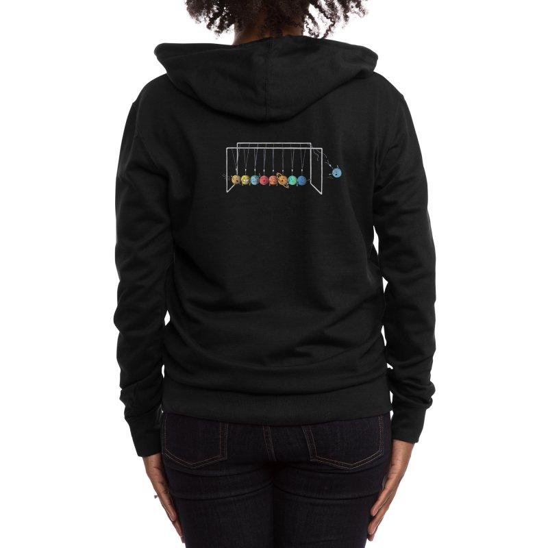 Planet System Women's Zip-Up Hoody by Threadless Artist Shop