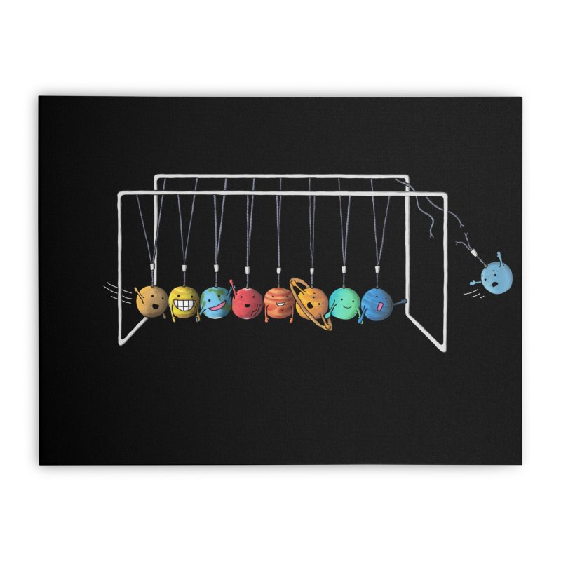 Planet System Home Stretched Canvas by Threadless Artist Shop