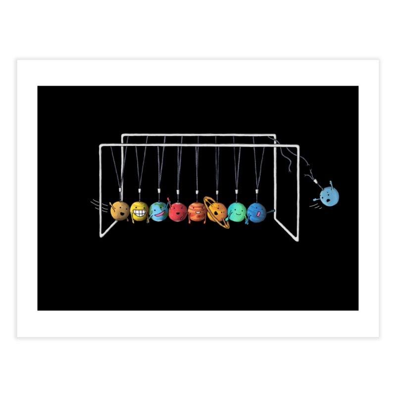 Planet System Home Fine Art Print by Threadless Artist Shop