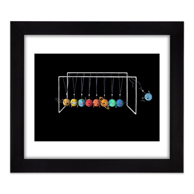 Planet System Home Framed Fine Art Print by Threadless Artist Shop