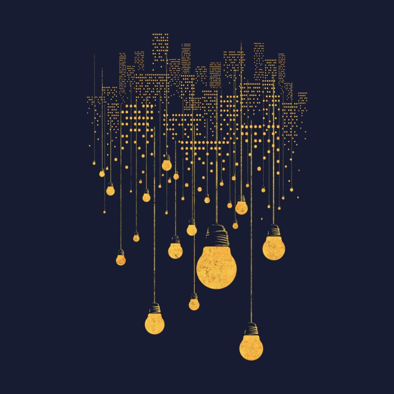 The Hanging City Men's T-Shirt by Threadless Artist Shop