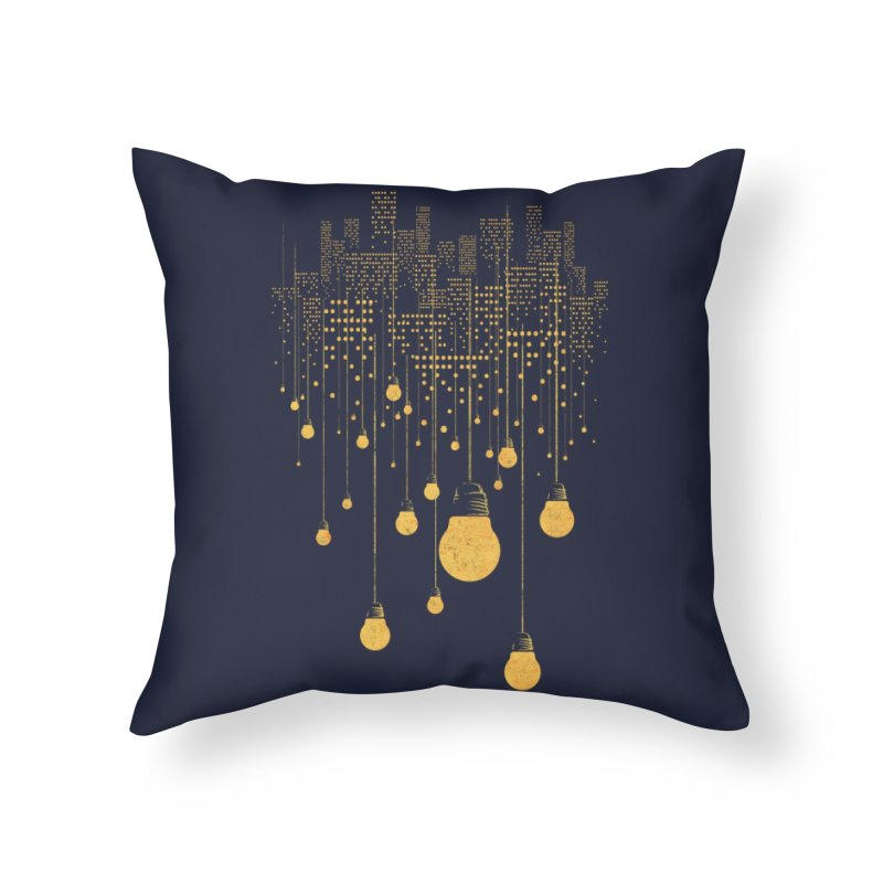 The Hanging City Home Throw Pillow by Threadless Artist Shop