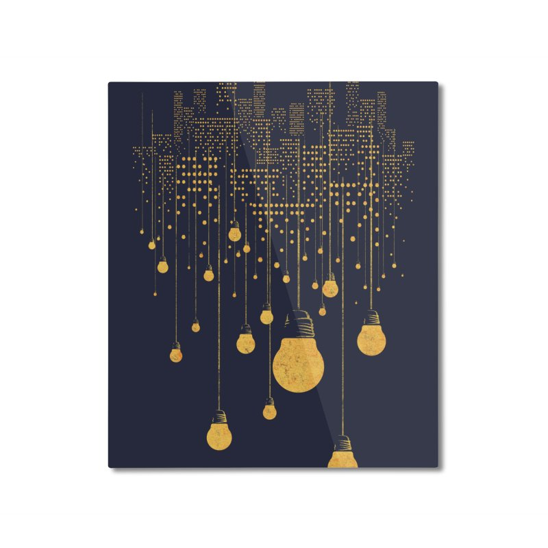 The Hanging City Home Mounted Aluminum Print by Threadless Artist Shop