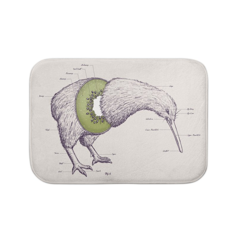 Kiwi Anatomy Home Bath Mat by Threadless Artist Shop