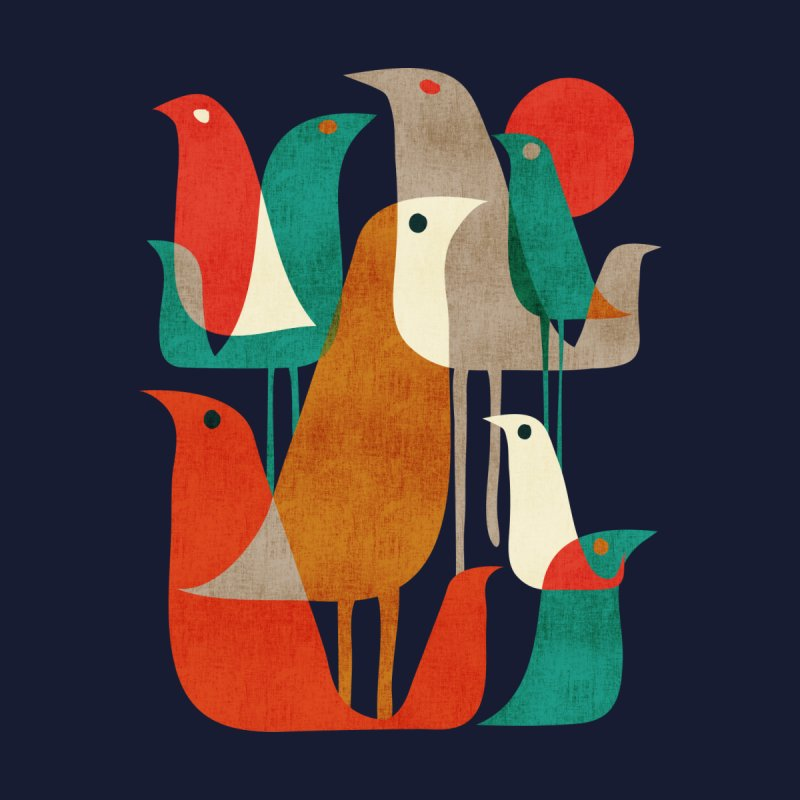 Flock of Birds Men's V-Neck by Threadless Artist Shop