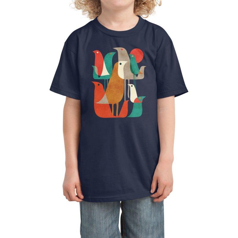 Flock of Birds Kids T-Shirt by Threadless Artist Shop