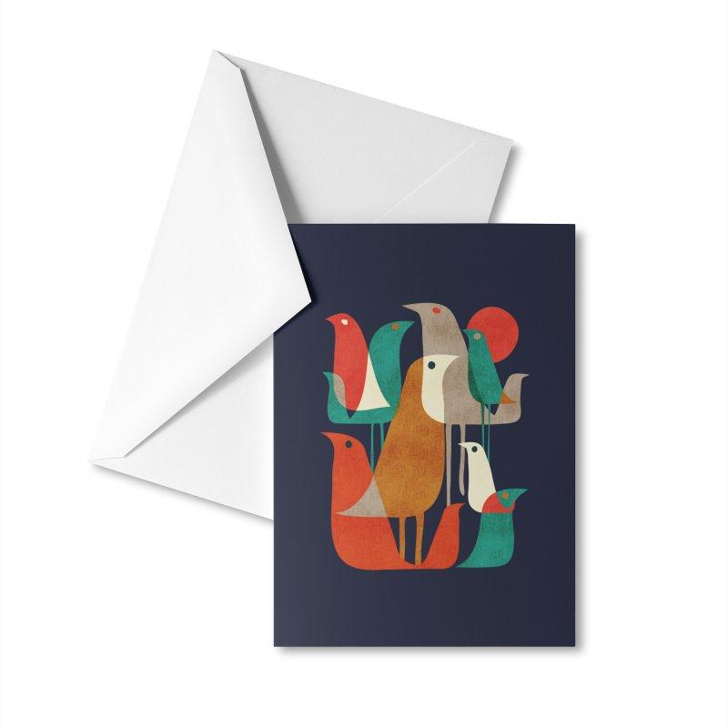 Flock of Birds Accessories Greeting Card by Threadless Artist Shop
