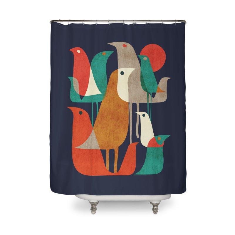 Flock of Birds Home Shower Curtain by Threadless Artist Shop
