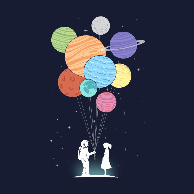 You Are My Universe Home Stretched Canvas by Threadless Artist Shop