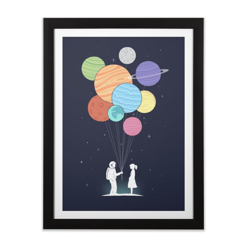You Are My Universe Home Framed Fine Art Print by Threadless Artist Shop