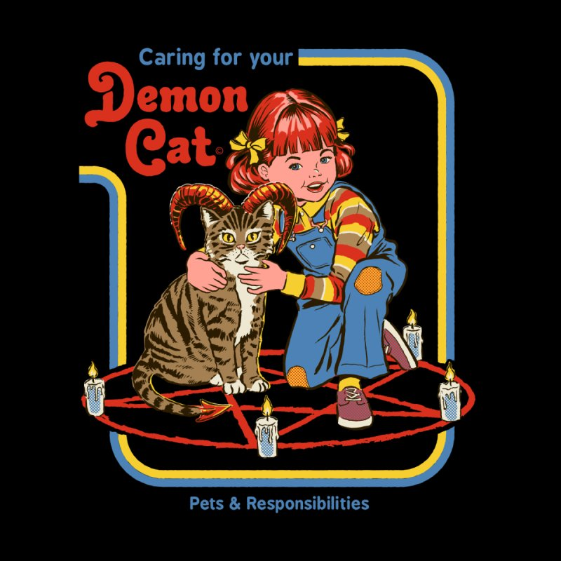Caring for Your Demon Cat Men's Longsleeve T-Shirt by Threadless Artist Shop