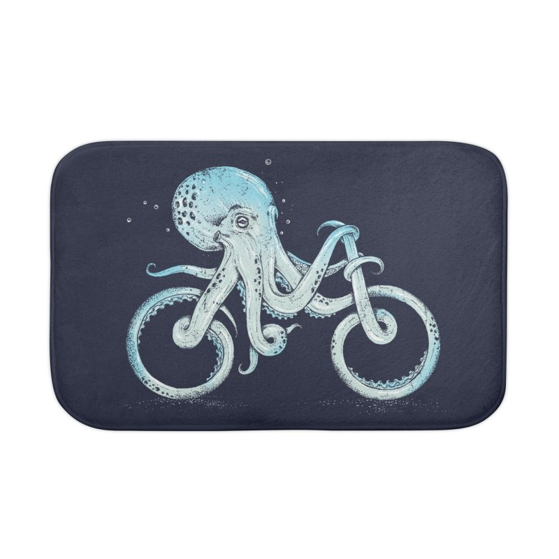 Octopus Bike Home Bath Mat by Threadless Artist Shop