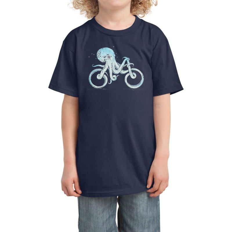 Octopus Bike Kids T-Shirt by Threadless Artist Shop