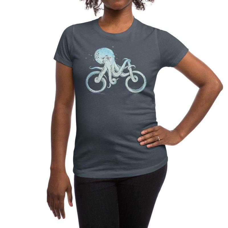 Octopus Bike Women's T-Shirt by Threadless Artist Shop