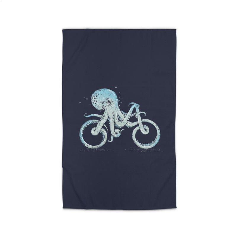 Octopus Bike Home Rug by Threadless Artist Shop