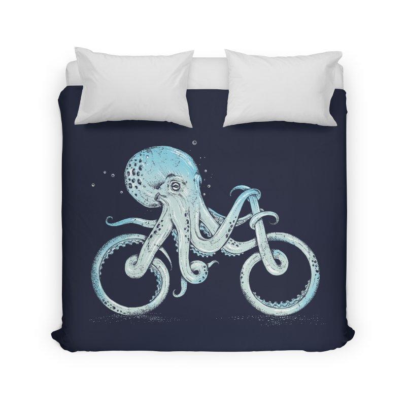 Octopus Bike Home Duvet by Threadless Artist Shop