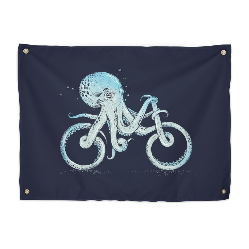 Octopus Bike Home Tapestry by Threadless Artist Shop