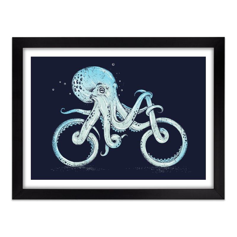Octopus Bike Home Framed Fine Art Print by Threadless Artist Shop
