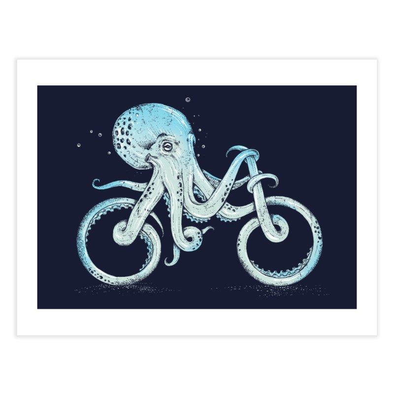 Octopus Bike Home Fine Art Print by Threadless Artist Shop