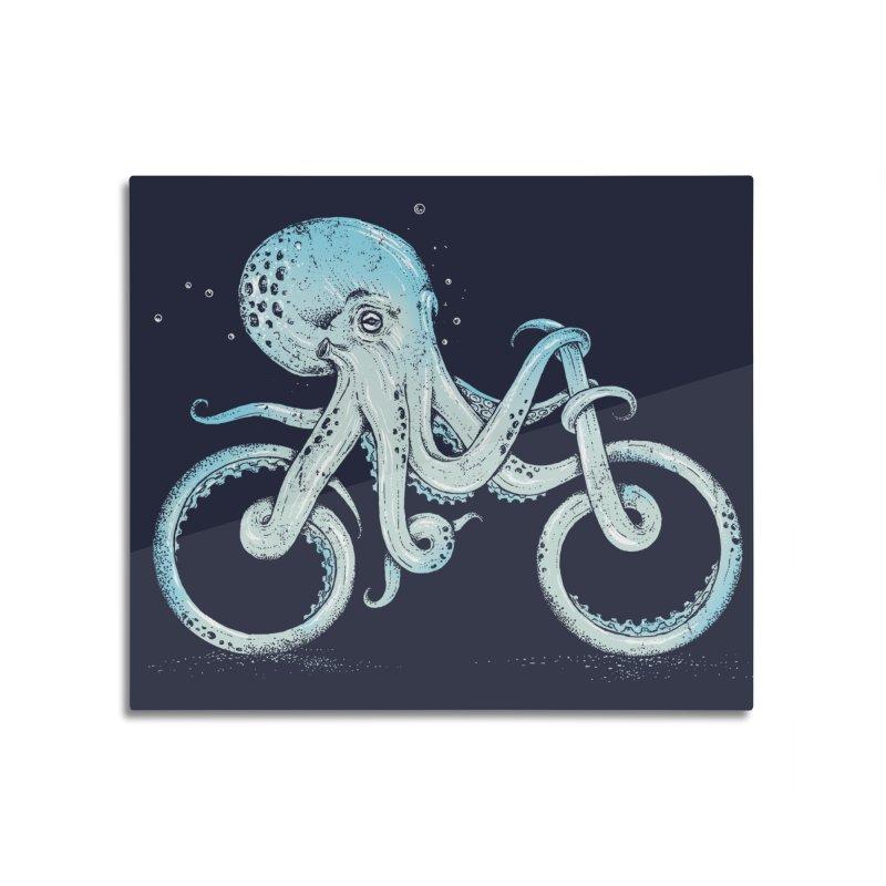 Octopus Bike Home Mounted Aluminum Print by Threadless Artist Shop
