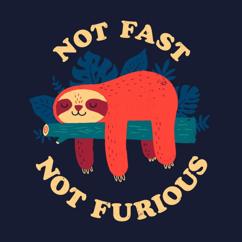 Not Fast, Not Furious Kids T-Shirt by Threadless Artist Shop