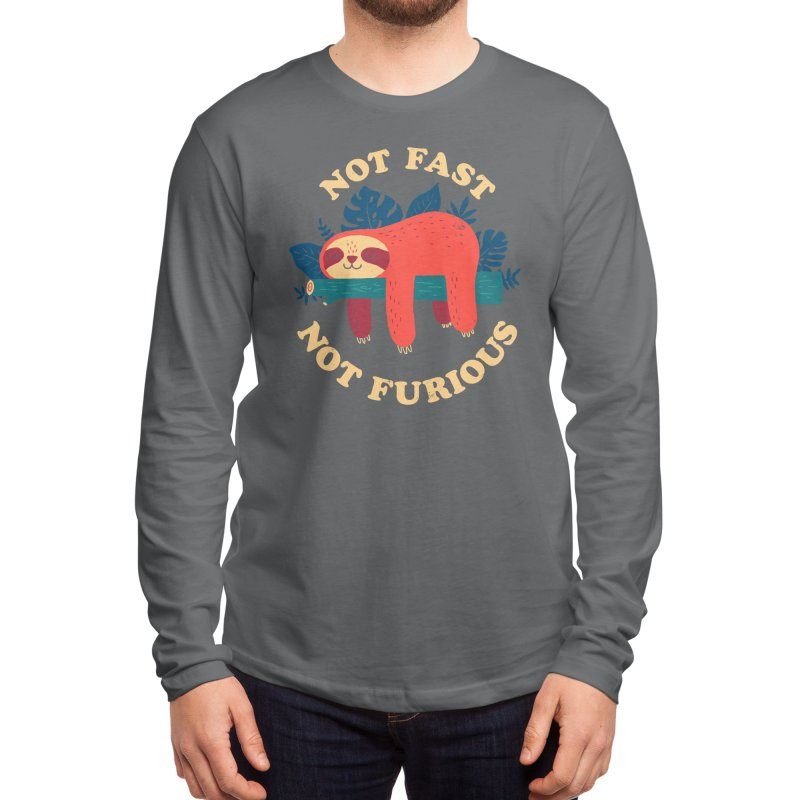 Not Fast, Not Furious Men's Longsleeve T-Shirt by Threadless Artist Shop