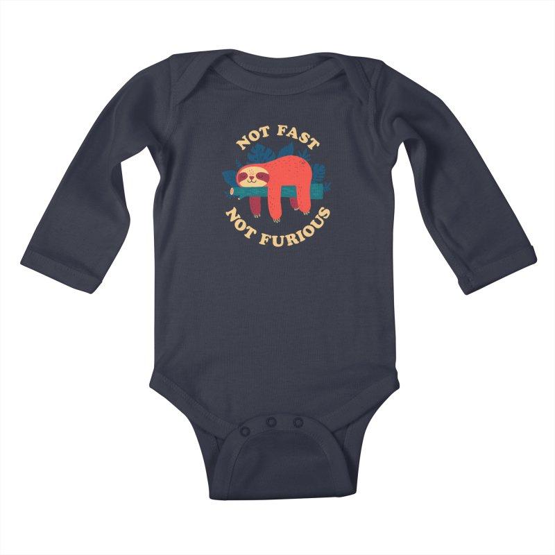 Not Fast, Not Furious Kids Baby Longsleeve Bodysuit by Threadless Artist Shop