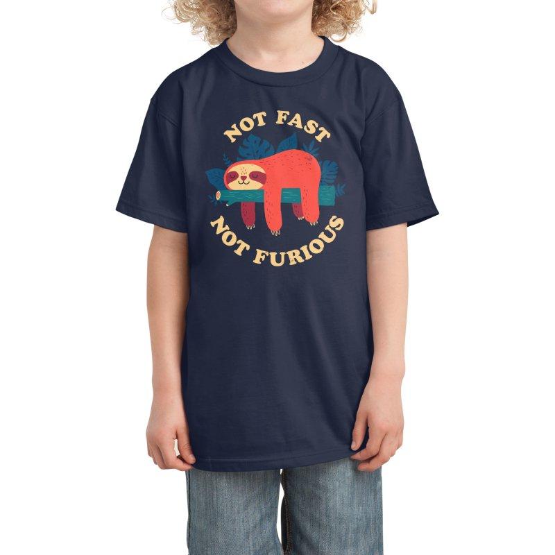 Not Fast, Not Furious Kids T-Shirt by Threadless Artist Shop