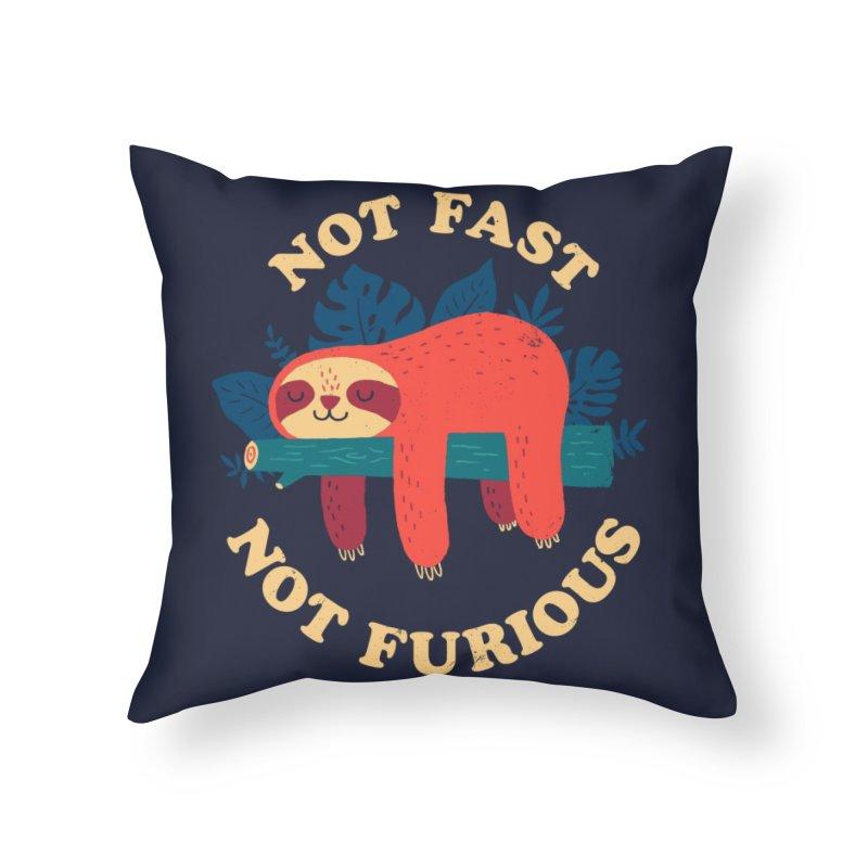 Not Fast, Not Furious Home Throw Pillow by Threadless Artist Shop
