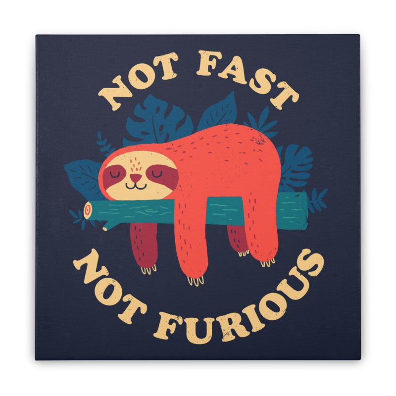 Not Fast, Not Furious Home Stretched Canvas by Threadless Artist Shop
