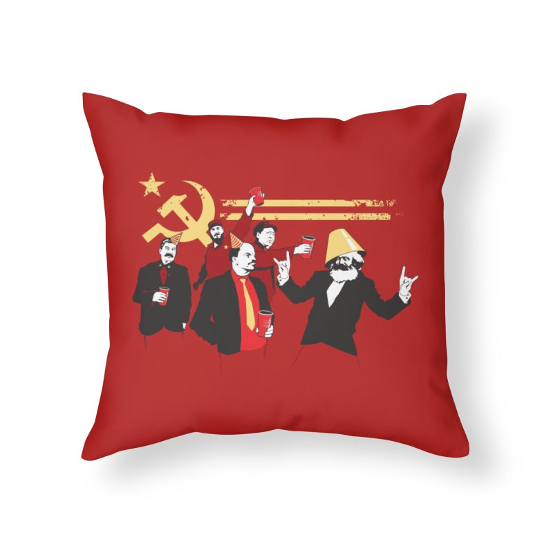 The Communist Party Home Throw Pillow by Threadless Artist Shop