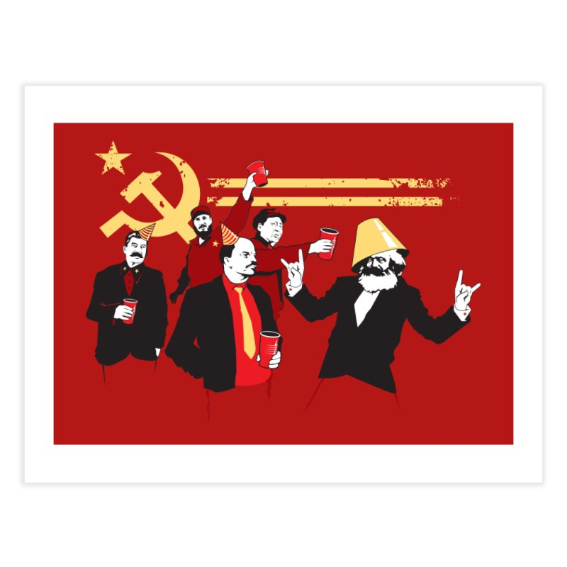 The Communist Party Home Fine Art Print by Threadless Artist Shop