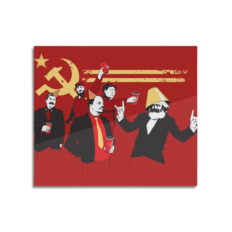 The Communist Party Home Mounted Aluminum Print by Threadless Artist Shop